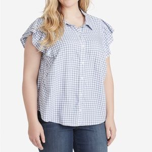 Button up checkered top